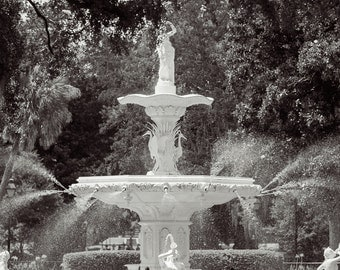 Forsyth Fountain, Savannah Photography, Savannah Art, Forsyth Park, Fine Art Photography, Black and White Photography, Savannah, GA,