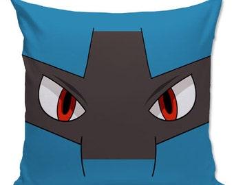 Pokemon pillow, pokemon go, Lucario Pillow, Gamer pillow