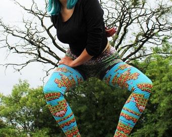 CONTRA Leggins, Video Game, Guns, pixel art, guns , pattern leggins, metal slug, yoga leggins, yoga pants