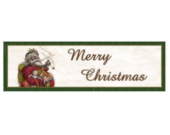Merry Christmas Santa Sign
