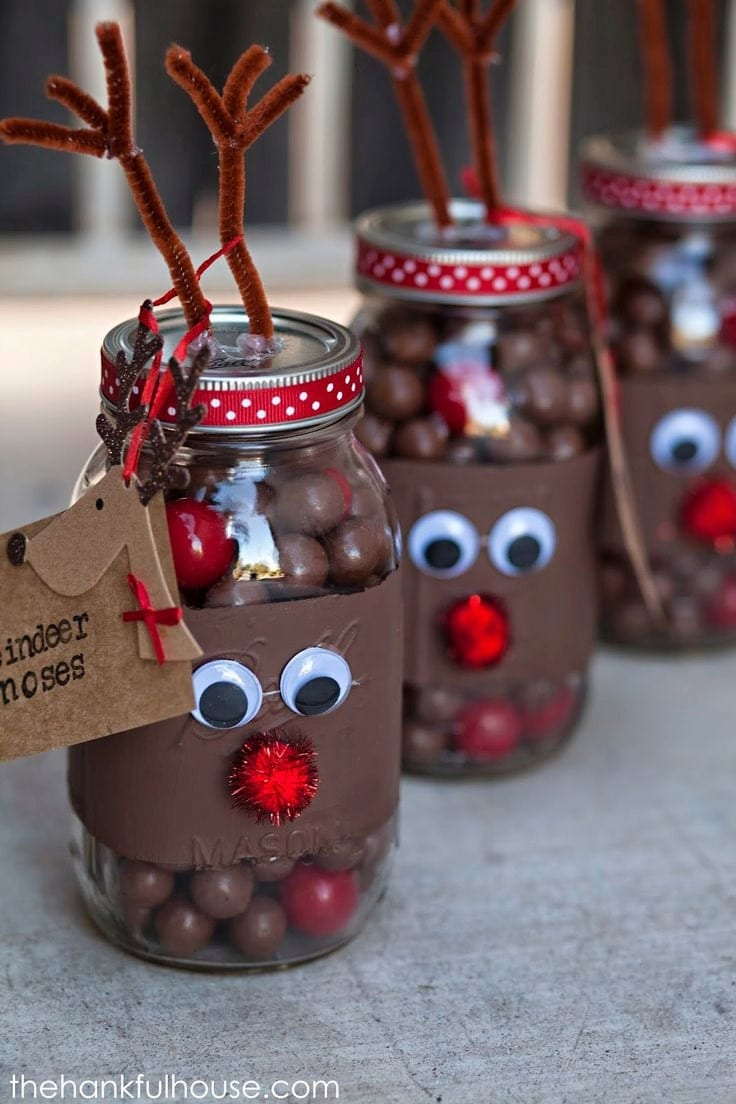 Reindeer Candy Jar