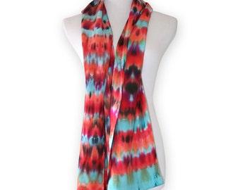 Silk hand dyed scarf