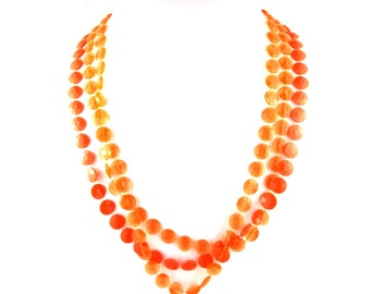 Vintage Orange Necklace
