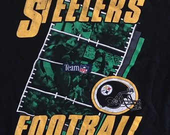 Vintage 90s Pittsburgh Steelers Football Tshirt - PIttsburgh Steelers - Steelers Tshirt - Vintage Tshirt - XL