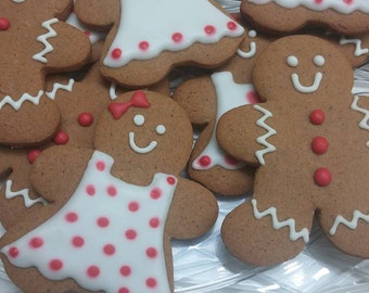 Homemade Gingerbread boys and girls