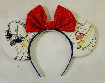 Snow White Mickey ears headband