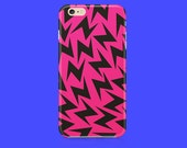 Pink Lightning bolt iPhone 6 case, iPhone 6s case, iPhone 5 case, iPhone 5c case, iPhone 6 Plus case, iPhone 6s plus case, iPhone 5s case