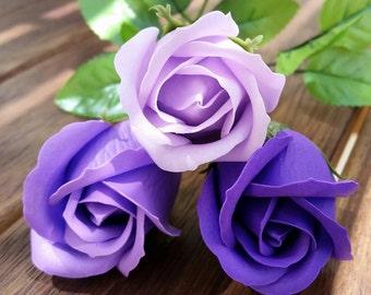 A single SOAP rose, flower soap, wedding decoration, wedding favors, guest gifts , artificial flowers, soap flowers, bathroom deco