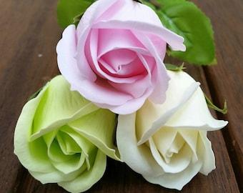 A single SOAP rose, flower soap, wedding decoration, valentines day ,artificial flowers, soap flowers, bathroom decoration, wedding