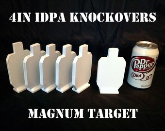 4in IDPA Knockover Shooting Targets - 3/8in Steel Targets - 6pc Metal Target Set
