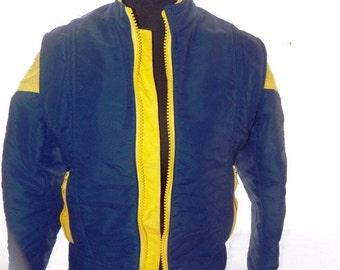 Vintage Spinnerin Gusti Suisse Women's Ski Jacket Sz 12 Med Blue Yellow