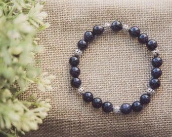 Blue sandstone bracelet