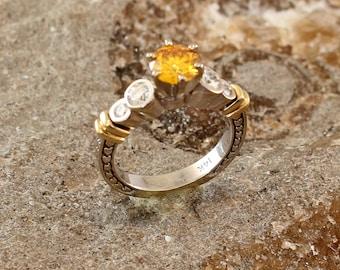 Canary Yellow Diamond Ring