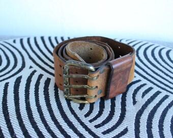 Vintage Camel Leather Belt
