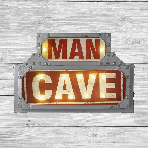 Man Cave Signs That Light Up : Man cave led light up sign weddings marquee by