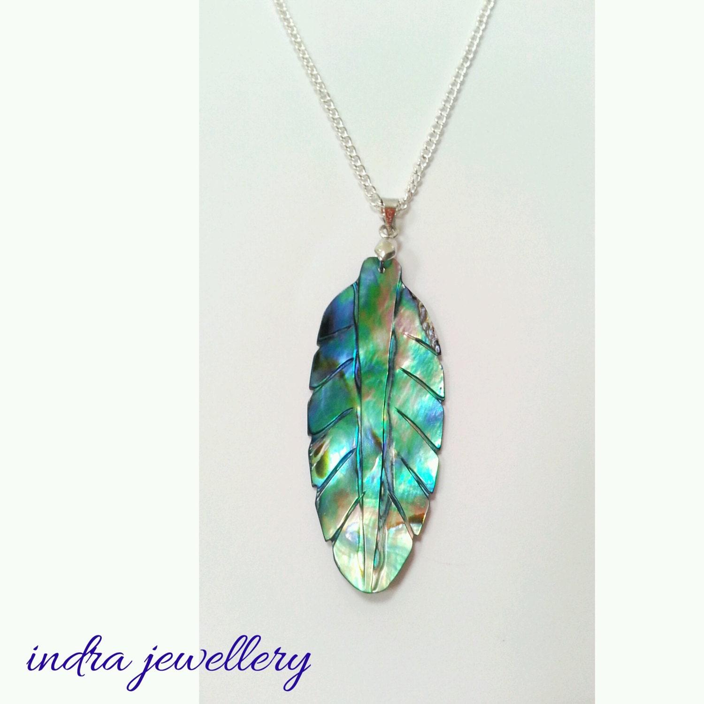 abalone pendant abalone shell pendant leaf pendant shell