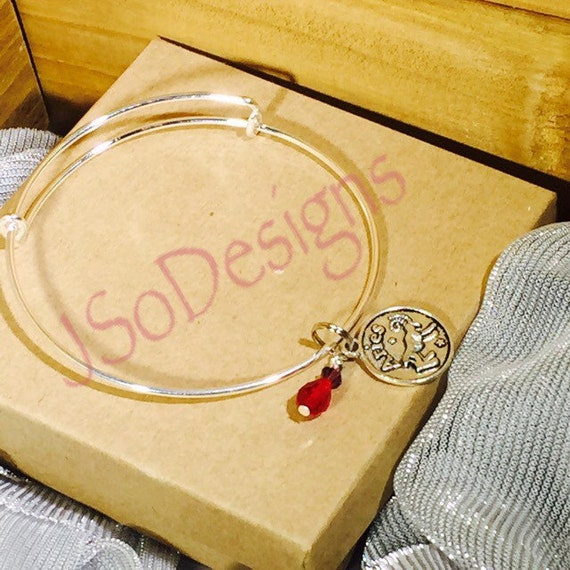 aries bangle charm bracelet with lucky color dangle by jsoblessed. Black Bedroom Furniture Sets. Home Design Ideas