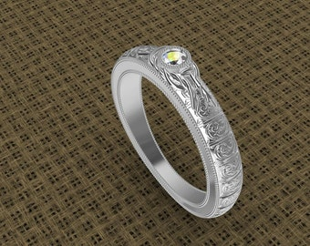14K Knot Band with diamond .07ct