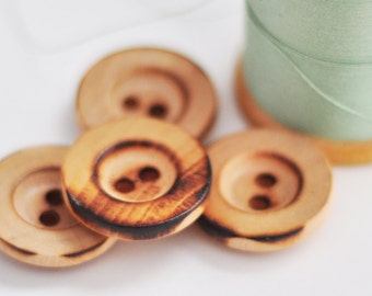Wooden Buttons, Set of 4