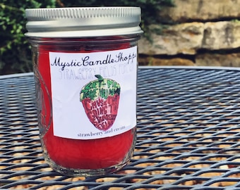 Strawberry Fields Forever soy candle, The Beatles inspired