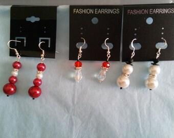 Santa, Snowman, Santa Hat Earrings