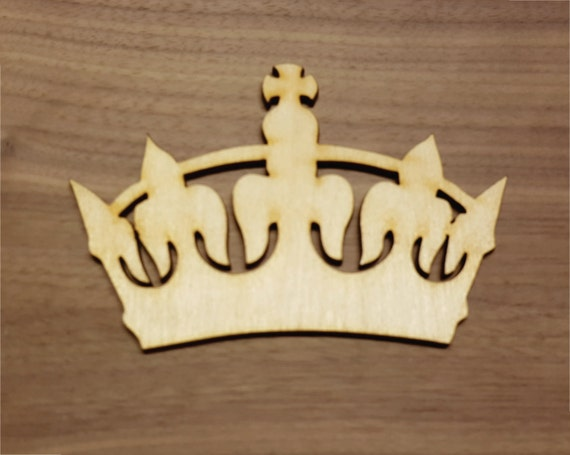 Crown Large & Small Laser Cut Unfinished Wood Cutout