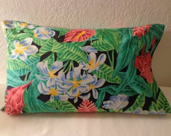 "Handmade Colorful ""Tropical"" Travel Pillow Case - Free Shipping in USA"