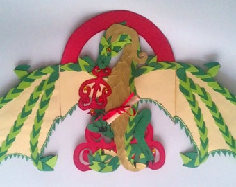 SOLD Dragon Guardian Greeting Card (Green Edition) Available made to order