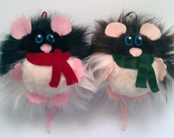 Rat/Mouse Hanging Festive Decoration (Furr-Balls)