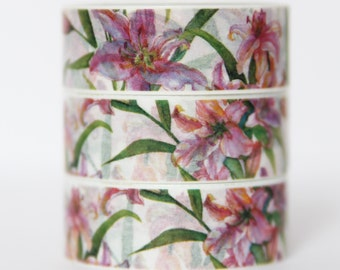 Design Washi tape lilies flowers nature