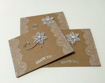 Quilled Thank You Card- set of 3