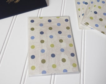 US Passport Cover, Passport  Sleeve, Case, Holder, Distressed Paint Cream Background,  Blues, Greens