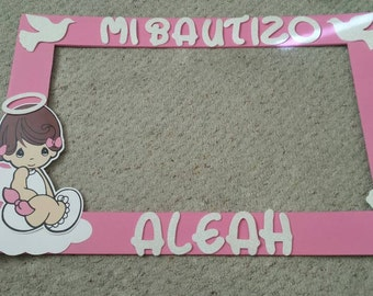 "Precious Moment Photo Prop 20"" x 30"" inch for Baptisms, Christenings for girl."