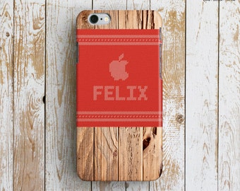 PERSONALIZED iPhone 6 Case. Christmas iPhone 6 Case. Gift iPhone 6 Plus Case. Unique iPhone6 Case. Name iPhone Cover. Knitting. iP6 Add Name