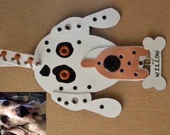 Custom Pet Tag Dog Metal Christmas Ornament