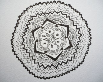 Hand Drawn. Ink Pattern Drawing