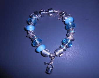 Beach Day European Bead and Charm Bracelet