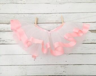 Ribbon Edge Tutu Ribbon Bow Tie Back pink Baby Infant Toddler Adult Tutu pink