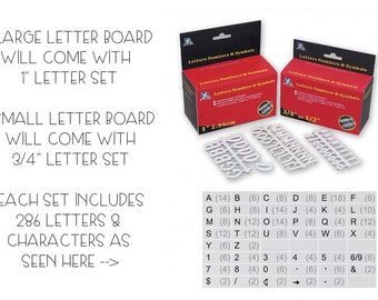 SALE!!!EXTRA letter sets!! 286 letters and characters!