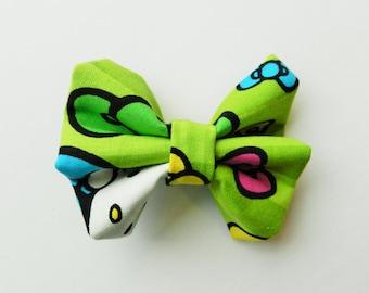 Hello Kitty Fabric Bow, Hello Kitty Bow, Hello Kitty Hair Bow