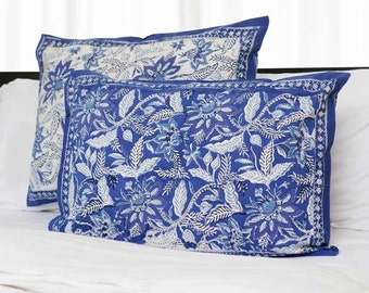 Dreams in India Shams - Indigo Floral [set of 2]