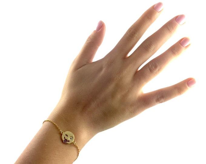 Emoji Bracelet-Wink (Adjustable)