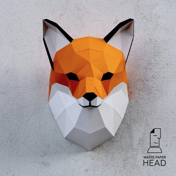 3d origami fox instructions