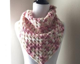 25% LOVE SALE Ready to Ship!! Handkerchief Scarf, Triangle Scarf