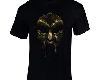 Men's Camo Mask Artist Hip Hop Music T Shirt Tee