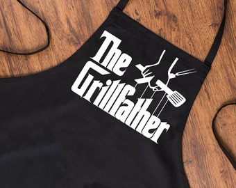 Novelty Funny Apron The Grillfather Parody BBQ Cooking Chef Gift Kitchen Cook