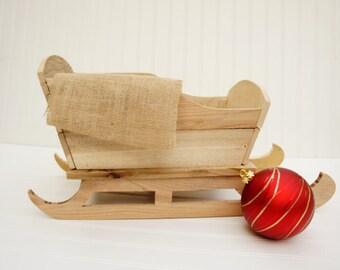 Grampy's Rustic Sleigh, re-purposed sleigh, photo prop, newborn photo prop, baby, Christmas, Holiday, Wood, upcycled, Santa sleigh