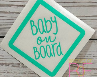 Baby on Board Cute Glossy Decal Sticker