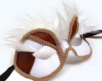 Snow Fox Male Masquerade Mask U9999M