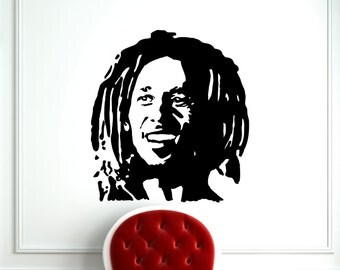 Bob Marley Decal Music Wall Vinyl Decal Home Interior Wall Art Decoration Mural (227s)